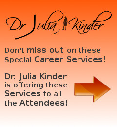 Dr. Julia Kinder - Physician Career Transitioning Consultant - Offering Various Career Transition Services at the 11th Annual Non-Clinical Careers Conference